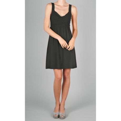 Lilla P Cross-Front Dress - Stretch Pima Cotton Jersey-Modal, Sleeveless (For Women)