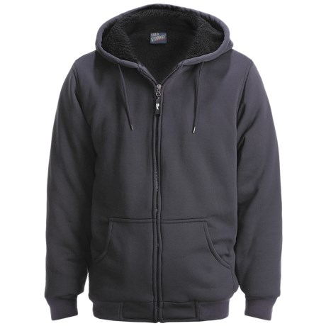 Cold Storage Heavyweight Hoodie Sweatshirt - Sherpa Lining (For Men)