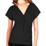Lilla P Whisper Weight Knot-Front T-Shirt - Short Sleeve (For Women)