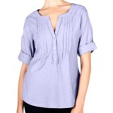 Lilla P Woven Cotton Tunic Shirt - 3/4 Sleeve (For Women)
