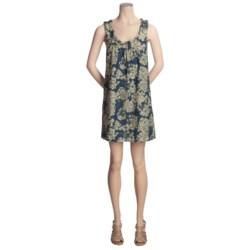 Lilla P Woven Cotton-Silk Dress - Ruffle Collar, Sleeveless (For Women)