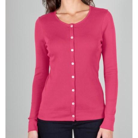Lilla P Classic Rib Cardigan Sweater - Button-Front (For Women)