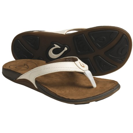 OluKai Kumu Thong Sandals - Leather (For Women)
