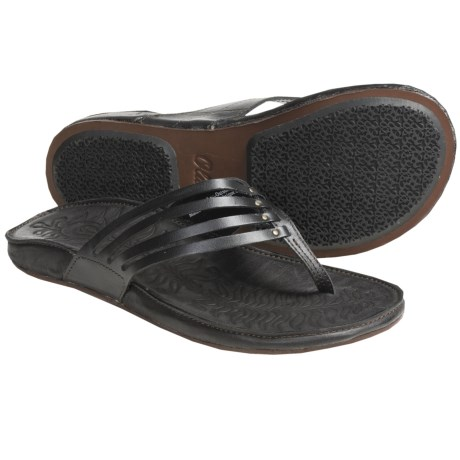 OluKai Mahana Thong Sandals - Leather (For Women)
