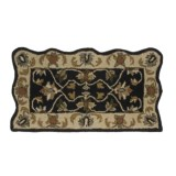 Kaleen Bombay Scalloped Hearth Rug - Wool, 21x42""