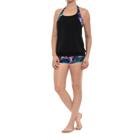 Profile Sports by Gottex Cosmos Tankini Set with Boy Shorts - UPF 50+, Built-In Bra, (For Women)