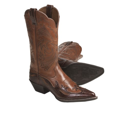Ariat Heritage Leather Cowboy Boots - J-Toe, Wingtip (For Women)