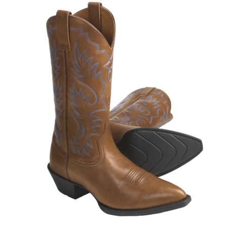 Ariat Heritage Leather Cowboy Boots - J-Toe (For Men)