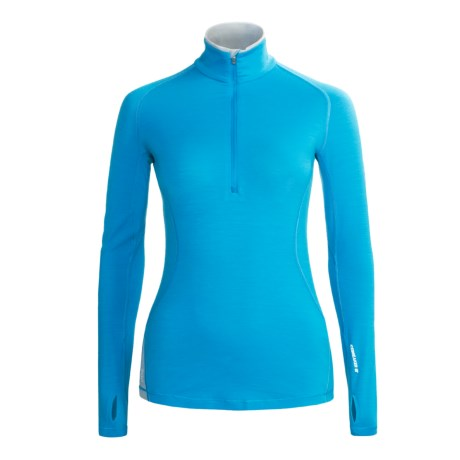 Icebreaker GT200 Pace Base Layer Top - Merino Wool, Zip Neck, Long Sleeve (For Women)