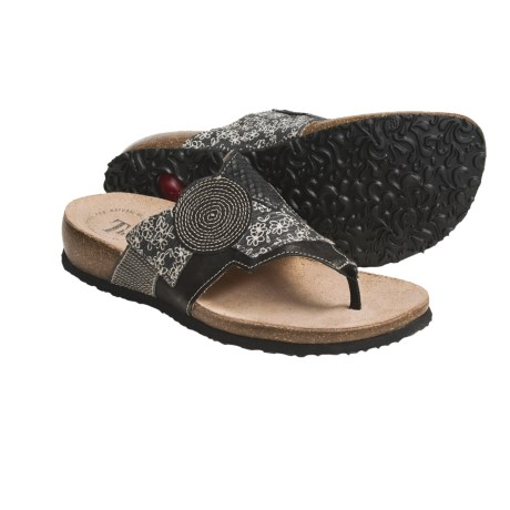 Think! Julia Thong Sandals - Leather Patchwork (For Women)
