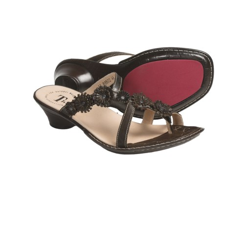 Think! Soso Flower Thong Sandals - Leather (For Women)