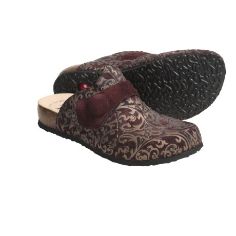 Think! Julia Clogs - Metallic Print Suede, Open Back (For Women)