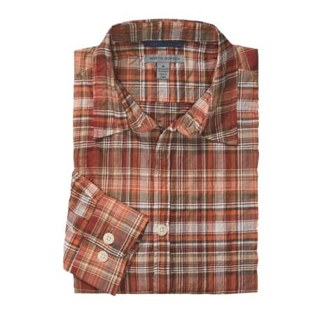 Martin Gordon Patterson Plaid Sport Shirt - Long Sleeve (For Men)