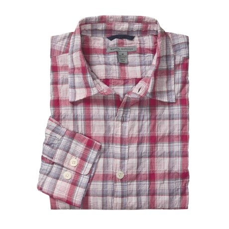 Martin Gordon Sun Deck Plaid Sport Shirt - Long Sleeve (For Men)