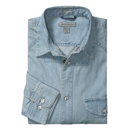 Martin Gordon Cotton Chambray Twill Sport Shirt - Long Sleeve (For Men)