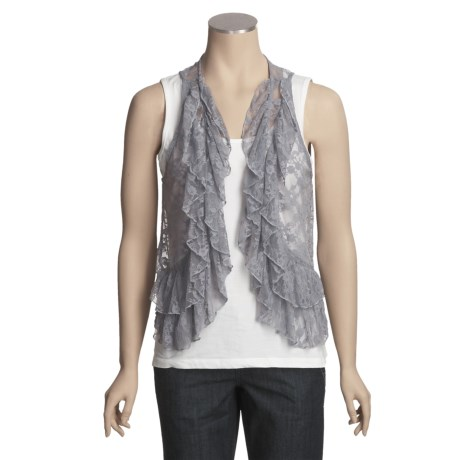 Rock Candy Stretch Lace Vest (For Women)