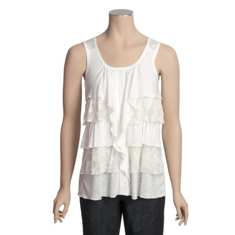 Rock Candy Layered Lace Tank Top - Stretch (For Women)