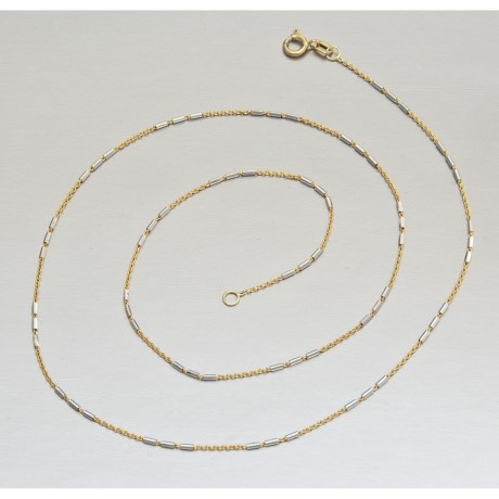 Stanley Creations 14K Gold Chain - Two-Tone, 18""