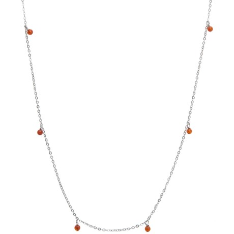 Stanley Creations Bead Station Necklace - Sterling Silver
