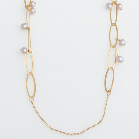 Stanley Creations Long Pink Pearl Necklace - 4.5mm