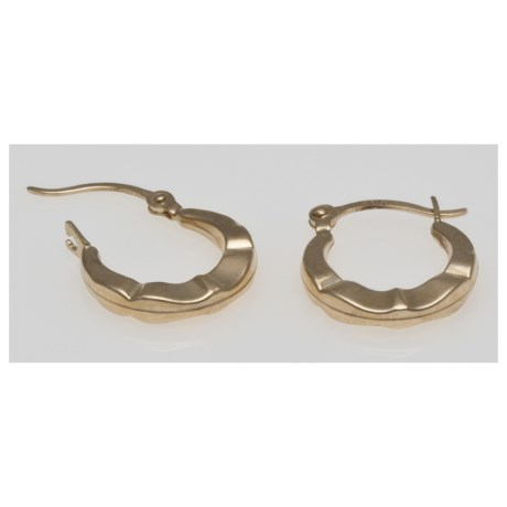 Stanley Creations Puffed Hoop Earrings - 14K Gold