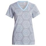 Woolrich Printed V-Neck Shirt - Short Sleeve (For Women)