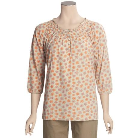 Woolrich Desert Flower Printed Shirt - 3/4 Sleeve (For Women)