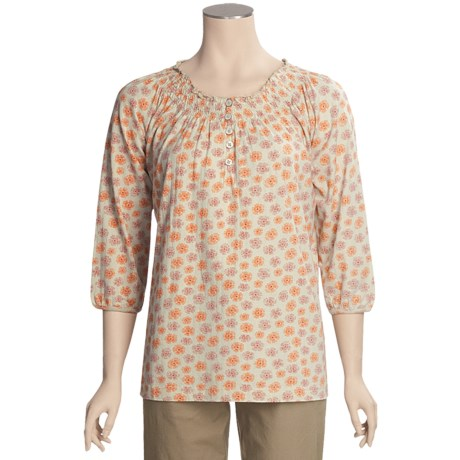 Woolrich Desert Flower Printed Shirt - 3/4 Sleeve (For Women)