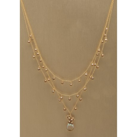Stanley Creations Brown Pearl Necklace