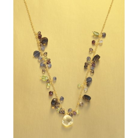Stanley Creations Gemstone Dangle Necklace