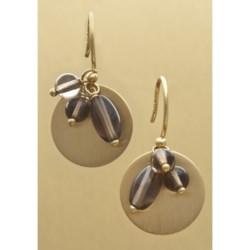 Stanley Creations Quartz Disc Drop Earrings
