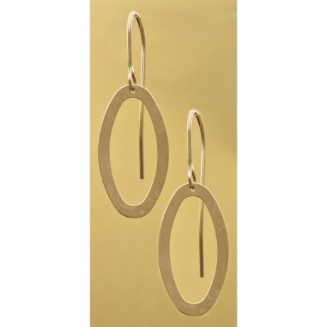 Stanley Creations Oval Earrings - 14K Gold