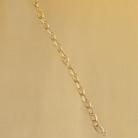 Stanley Creations Oval Link Bracelet - 14K Gold