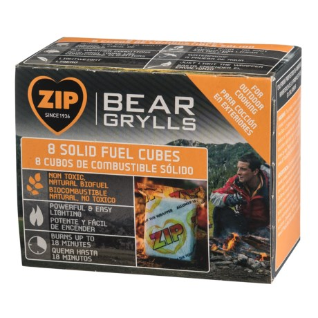 Zip Bear Grylls Solid Fuel Cubes - 8-Pack