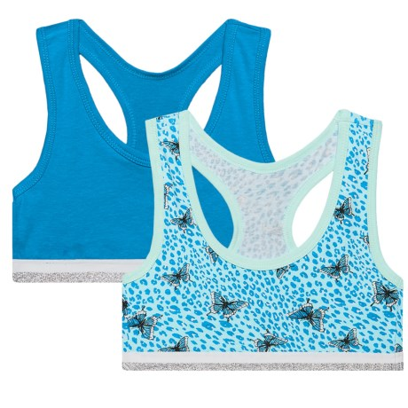 RBX Racerback Sports Bra - Low Impact, 2-Pack (For Big Girls)