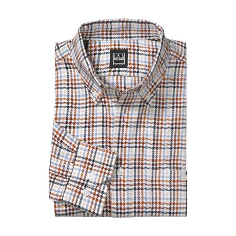 Ike Behar Houndstooth Sport Shirt - Multi-Check, Long Sleeve (For Men)