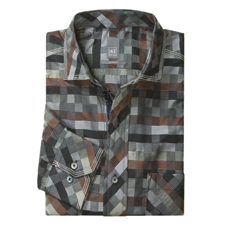 Ike Behar Multi-Check Sport Shirt - Modern Fit, Long Sleeve (For Men)