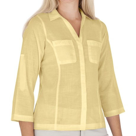Royal Robbins Convertible Camp Shirt - Roll-Up 3/4 Sleeve (For Women)