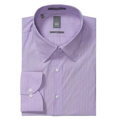 Ike New York Ground Stripe Dress Shirt - Slim Fit, Long Sleeve (For Men)