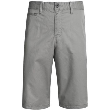 Cotton Flat-Front Shorts (For Men)