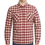 Cotton Plaid Sport Shirt - Button-Down Collar, Long Sleeve (For Men)