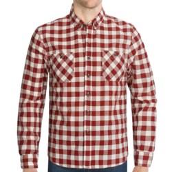 Cotton Plaid Sport Shirt - Button-Down Collar, Long Sleeve (For Men)