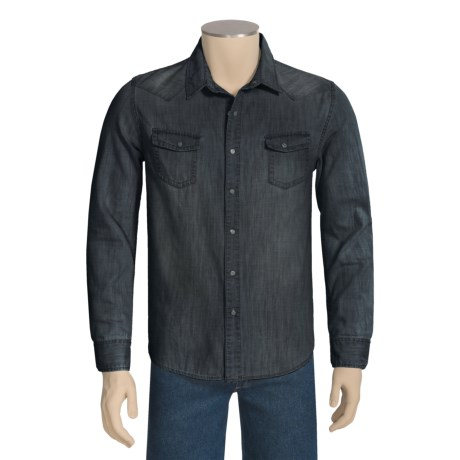 Denim Shirt - Long Sleeve (For Men)