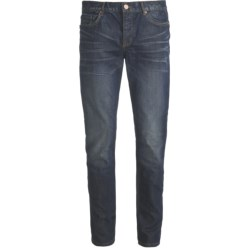 Straight Leg Skinny Jeans - Button Fly (For Men)