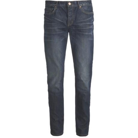 Straight Leg Skinny Jeans - Button Fly (For Men)