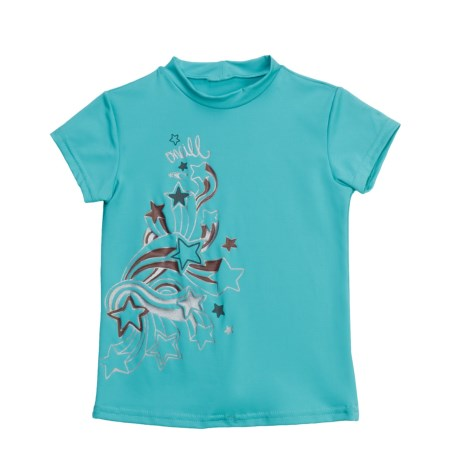 O'Neill O'Neill Skins Rash Guard Shirt - UPF 50+, Short Sleeve (For Girls)