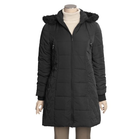 Excelled Quilted Coat - Insulated, Removable Hood (For Women)