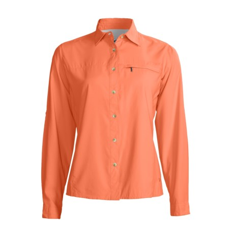 White Sierra Swamp Shirt - UPF 30, Insect Shield®, Long Sleeve (For Women)