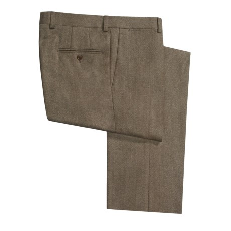 Riviera Alfio Twill Pants - Lambswool, Flat Front (For Men)