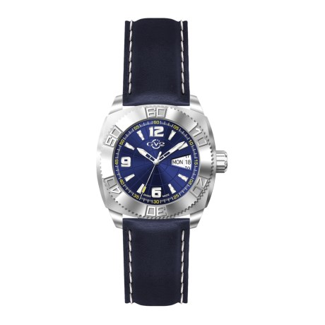 GV2 by Gevril Hercules Collection Blue Watch - Leather Strap